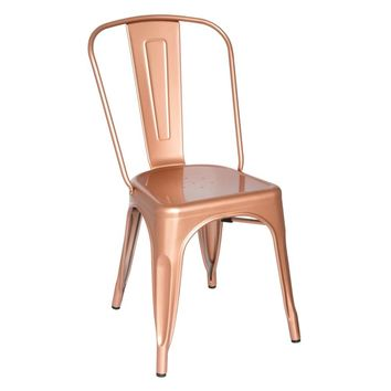 Tolix Style Chair, Copper