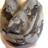 Christmas Gift Cat Animal Printed Scarves 2014 Scarf Beach Shawl Wrap Pattern Cute Accessory Woman Scarf Infinity Fashion Lovely Snood