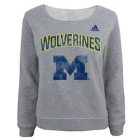 adidas Michigan Wolverines Fleece Sweatshirt - Girls