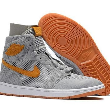Air Jordan 1 Retro Aj1 Flyknit Wolf Grey 40 47 | Best Deal Online