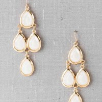 Mazatlan Faceted Drop Earrings in Ivory
