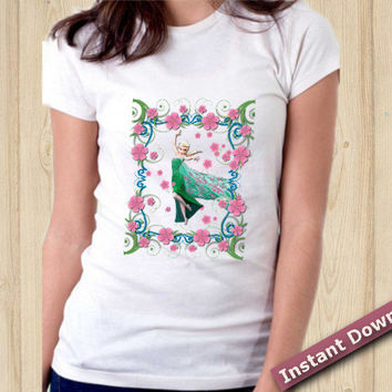 ON SALE Frozen Iron On Transfer T-shirt Instant Download birthday printable file Diy