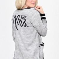 The Mrs. Sweater Cardigan {Marble Grey/Black}