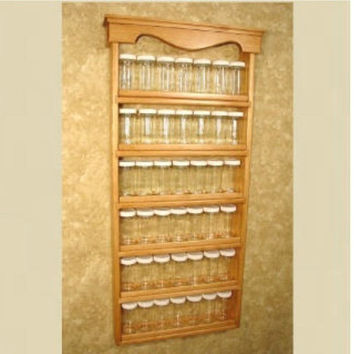 Wall Mounted Spice Rack Farmhouse