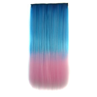 Hot Sale Hot Deal Sexy On Sale Beauty Gradient Wigs Blue Pink Straight Hair Clip Hair Extensions [4923176388]