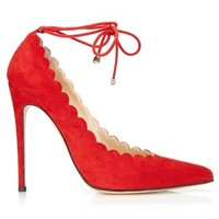 Red Suede Rosario Pumps | Bionda Castana | Avenue32