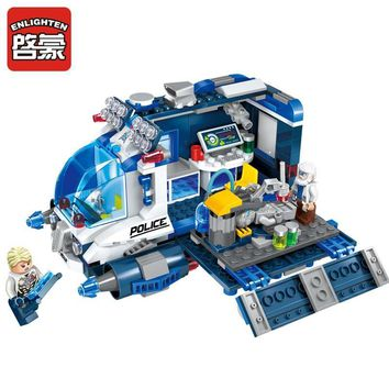 Star Wars Force Episode 1 2 3 4 5 ENLIGHTEN 337Pcs Space  Adventure  Mobile Repair Station Car Educational Compatible Blocks Toys For Children Boys Gifts AT_72_6