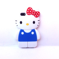 Loungefly – Hello Kitty Classic Full Body 3D iPhone™ 5 Silicone Case In White/Multi Thirteen Vintage