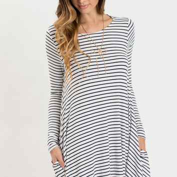 Marla Striped Longsleeve Dress