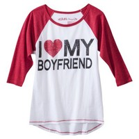 Juniors I Love My Boyfriend Graphic Tee
