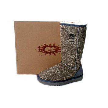 Ugg Boots Sale Classic Patent Paisley 5852 Grey For Women 89 01