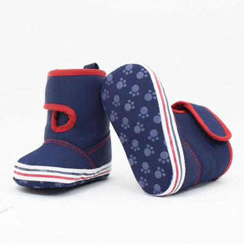 0-18M New Infants Newborn Baby Girl Boy Shoes Crochet Cotton Boots Toddler Snow Crib Shoes Booties NW