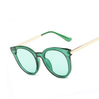 Newest Oval Sunglasses Women Brand Designer Retro Sunglass Female Colorful Coating Lens Eyewear Accessories Classic Sun glasses