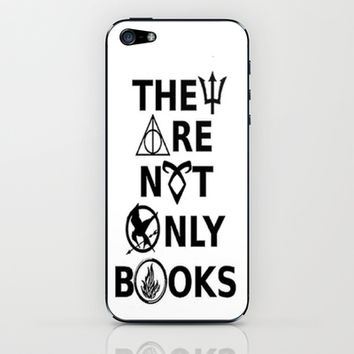 They Are Not Only Books iPhone & iPod Skin by phantastique