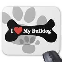 I Love My Bulldog - Dog Bone