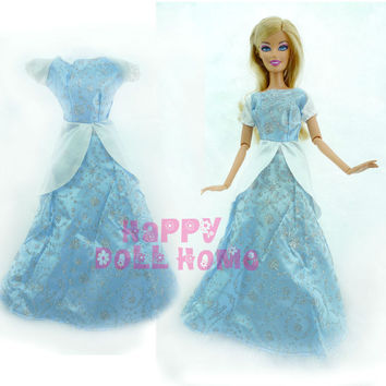 "Princess Wedding Dancing Ball Dress Fairy Tale Gown Copy Cinderella Clothes Outfit For Barbie Doll Kurhn 11.5"" 12"" Play House"