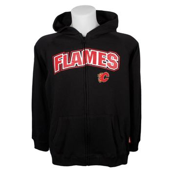 Calgary Flames YOUTH Essential Full Zip Hoodie