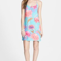 Everly Floral Print Y-Back Shift Dress (Juniors)