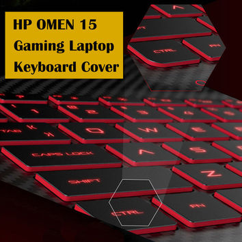 Laptop Keyboard Cover for HP WASD OMEN 15 Notebook Ultrathin Transparent Keyboard Case
