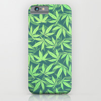 Cannabis / Hemp / 420 / Marijuana - Pattern iPhone & iPod Case by Badbugs_art