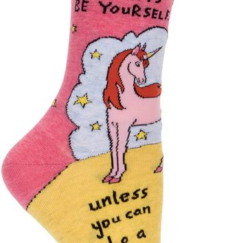 Be a Unicorn Women's Crew Socks