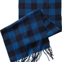 Old Navy Mens Patterned Flannel Scarves Size One Size - Blue buffalo plaid