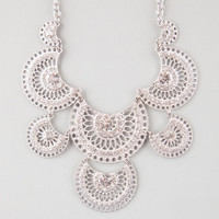 Full Tilt Medallion Statement Necklace Silver One Size For Women 25147314001