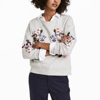 H&M Embroidered Sweatshirt $17.99