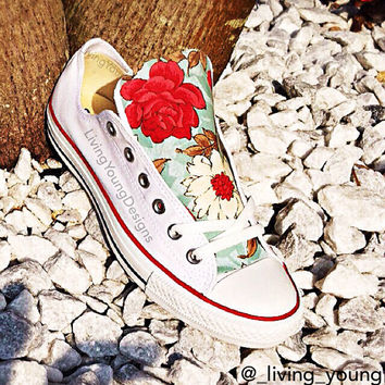 Floral Converse Shoes / Floral Chucks