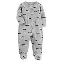 carter's® Zip-Front Happy Sleep & Play Footie in Grey