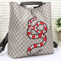 Gucci Women Leather Snake Pattern print Shoulder Bag Daypack Backpack