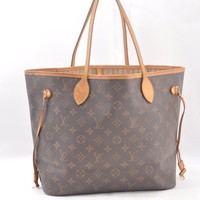 Authentic Louis Vuitton Monogram Neverfull MM Tote Bag M40156 LV 44105
