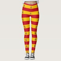 Leggings with flag of Spain