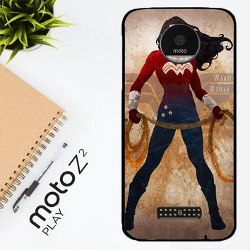 Wonder Woman Silhouette Y0546 Motorola Moto Z2 Play Case
