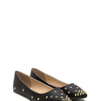 What A Stud Faux Leather Flats