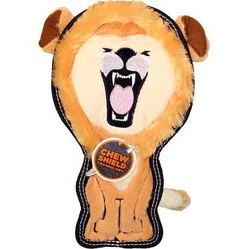 Tough Seamz Lion Dog Toy W/ Invincible Squeaker