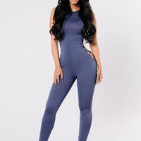You Don't Have To Try Jumpsuit - Navy