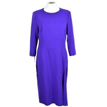 Escada Dress Knee Length US 10 Medium Tanzanite