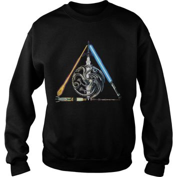 All sword star war and mother of dragon Game of Thrones shirt Sweat Shirt
