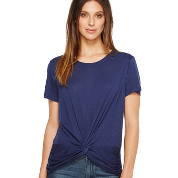 Michael Stars Slub Short Sleeve Crew Neck with Twist