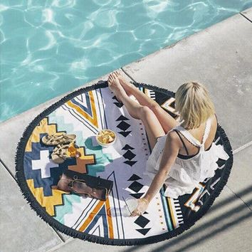 ESBU3C NEW Gigantic Mandala Tapestry Wall Hanging Beach Summer Shower Towel Blanket  Summer Large printed Round Circle Size 150x150cm