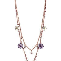 SPRING FLING PURPLE LAYER CHAIN NECKLACE PURPLE