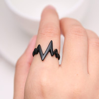 New fashion ladies ring ring alloy electroplating