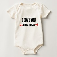 I love you this Much Open Arms Baby Bodysuit