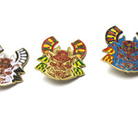 Warrior's Mask Hat Pin