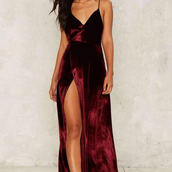 Fashion V Neck Side Slit Backless Prom Dresses