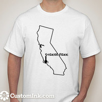 Stress Free California Outline Tshirt by selfMADEclothing on Etsy