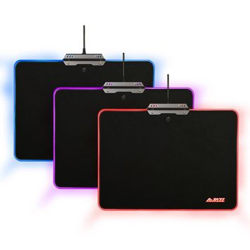 AJAZZ RGB Mouse Pad Hard Gaming Mousepad 9 Lighting Modes Touch Control Mice Mat USB Wired Mouse Mice Pad for Games Office