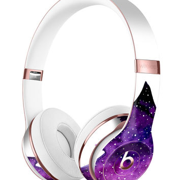 Purple Watercolor Evergreen Tree Full-Body Skin Kit for the Beats by Dre Solo 3 Wireless Headphones