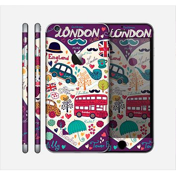 The Vector Purple Heart London Collage Skin for the Apple iPhone 6 Plus